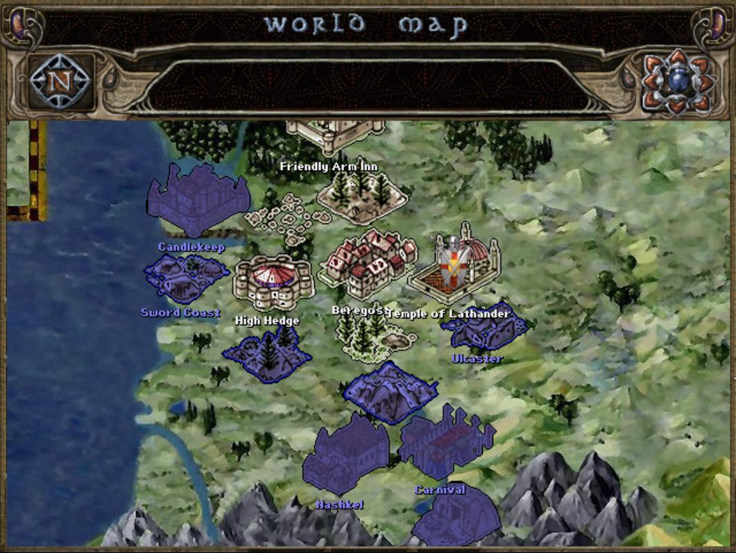 Baldur's Gate Trilogy Map, with pixel scaling