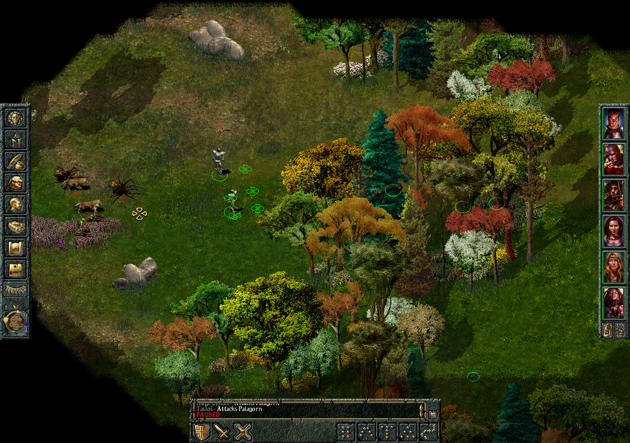Baldur's Gate 1 with higher resolution without widescreen mod