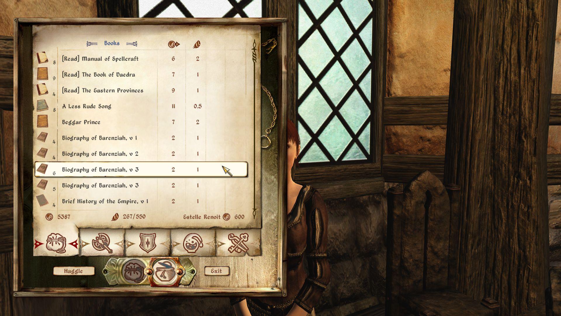 Show read books in merchant menu