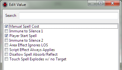 Editing the list of flags