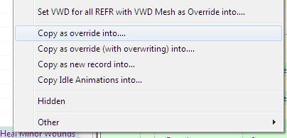 Copy as override into...
