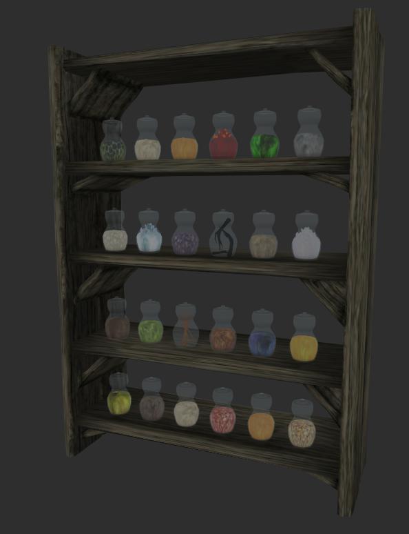 The shelf as seen in NifSkope