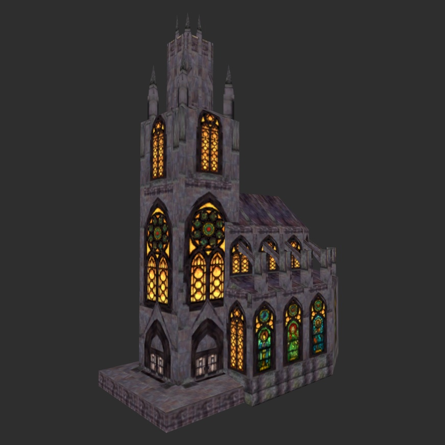 Cathedral of Zenithar, lit Windows