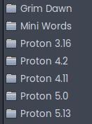 I have too many proton versions